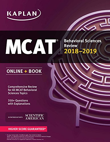 MCAT Behavioral Sciences Review 2018-2019: Online + Book (Kaplan Test Prep)