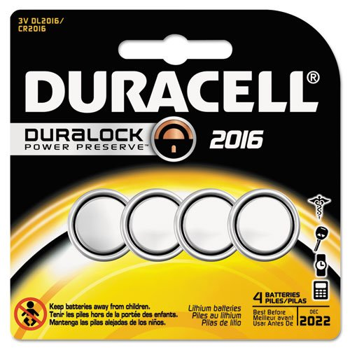 Duracell - Button Cell Lithium Battery #2016, 4/Pk DL2016B4PK (DMi PK