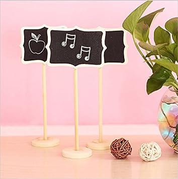 Números de 12 Mini cartelitos para bodas (saitec® Tarjeta de ...