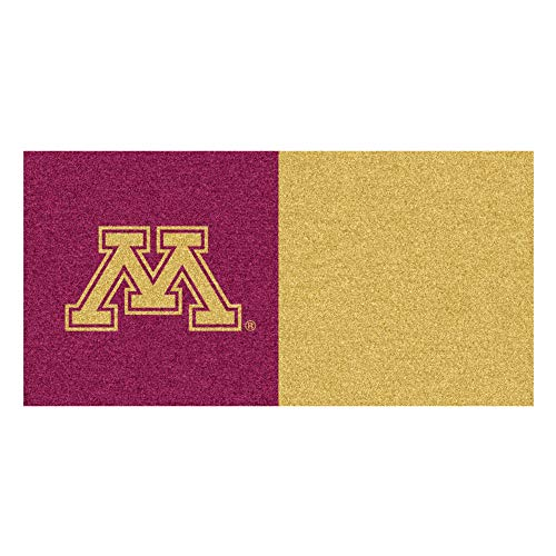 (FANMATS NCAA University of Minnesota Golden Gophers Nylon Face Team Carpet Tiles)