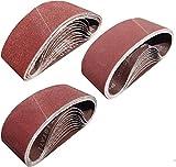 Sackorange 30 PCS 3 inch x 21 inch Sanding Belts