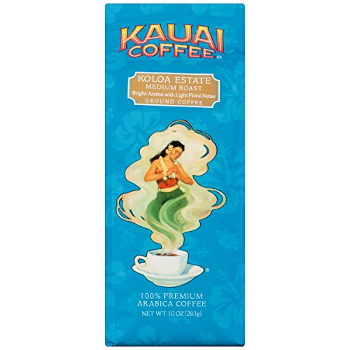 Kauai Coffee, Koloa Estate Medium Roast Ground, 10 Ounce