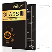 iPhone 6 Plus Screen Protector,iPhone 6s Plus Screen Protector,by Ailun,Tempered Glass,9H Hardness,Curved Edge,Bubble Free,Anti-Scratch,Fingerprint&Oil Stain Coating,Case Friendy-Siania Retail Package