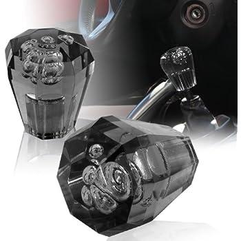 Universal JDM VIP 60mm Transparent Black Diamond Bubble Shift Knob