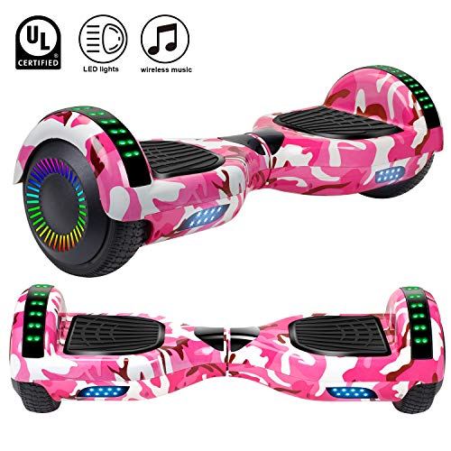 Felimoda Hoverboard, w/Bluetooth Speaker for Kid and Adult- UL2272 Certified
