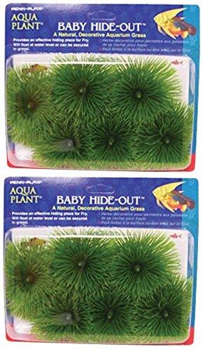 ((2 Pack) Penn Plax Baby Hide-Out Breeding Grass for Aquarium)