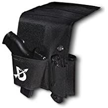 Domestic Defense AdjustableCar Chair Desk BedMattress Gun Holster Universal with Tactical Flashlight Loop