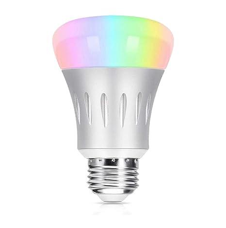 Bombilla WiFi inteligente, de Beatife, 7W, E27 RGB, bombilla LED blancas 60W equivalente a Amazon Alexa ...