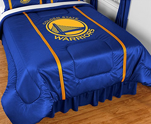 Golden State Warriors 5 Pc TWIN Comforter Set and One Matching Window Valance/Drape Set (Comforter, 1 Flat Sheet, 1 Fitted Sheet, 1 Pillow Case, 1 Sham, 1 Matching Window Valance/Drape Set) SAVE BIG ON BUNDLING! by Sports Coverage