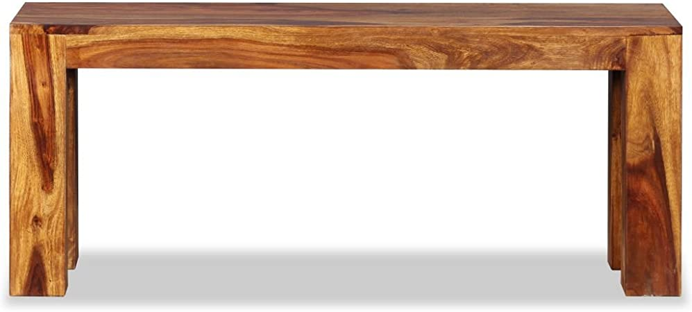 Panca in Legno Massello di Sheesham 110x35x45 cm D9F8