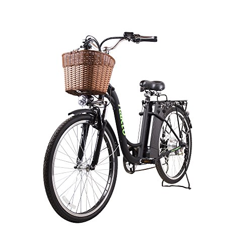 Cheap NAKTO 26″ City Electric Bicycle and Assisted Bicycle for Men with Removable 36V 10A Large Capacity Lithium Battery and Charger(26″ Spark-Black)