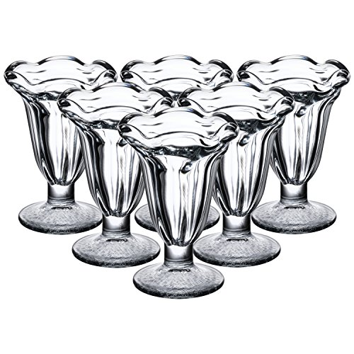 Libbey 5 Ounce Glass Tulip Sundae and Dessert Cup, Set of - Oz Dishes Tulip 5 Dessert