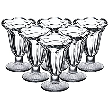 Libbey 5 Ounce Glass Tulip Sundae and Dessert Cup, Set of 8