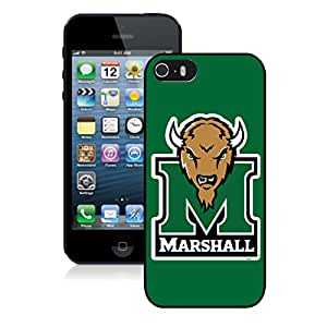 Iphone 5/5S Phone Case NCAA-CONFERENCE USA Marshall Thundering Herd 1 For Apple Iphone 5 5S Cover Case