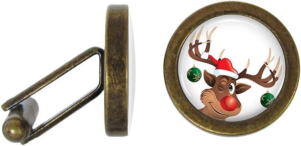 Angled Edition Oakmont Cufflinks Santas Reindeer Cufflinks Christmas Cuff Links