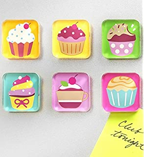 Amazon.com: WallsThatSpeak 4 Cute Colorful Cupcakes Art Prints ...