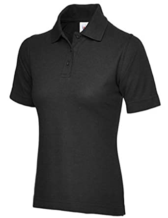 ff9773003 Ladies Pique Polo Shirt Size UK 8 to 26 Plus NEW Casual Sports Gym Work (