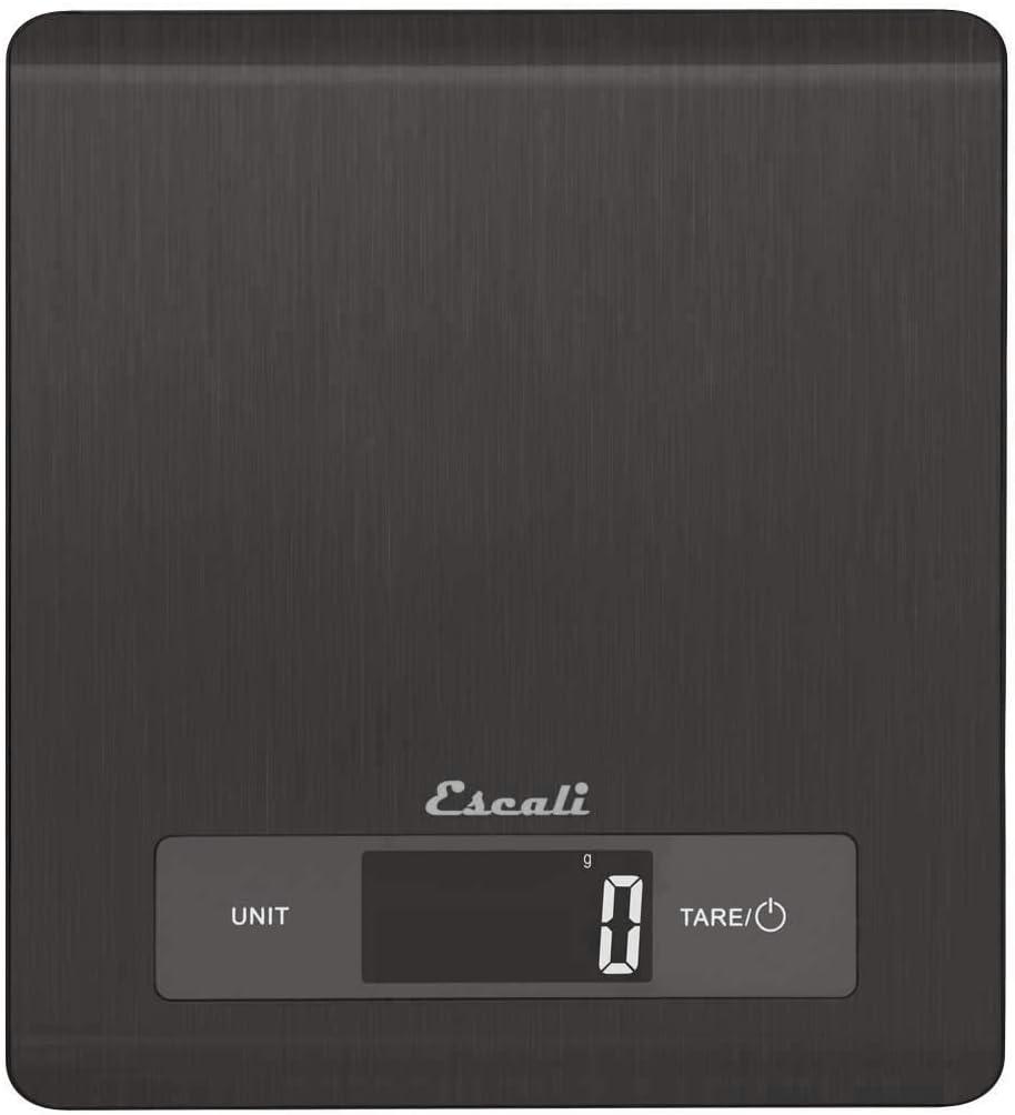 Escali Mako Stainless Steel Digital Scale, 11 lb/5 kg, Black
