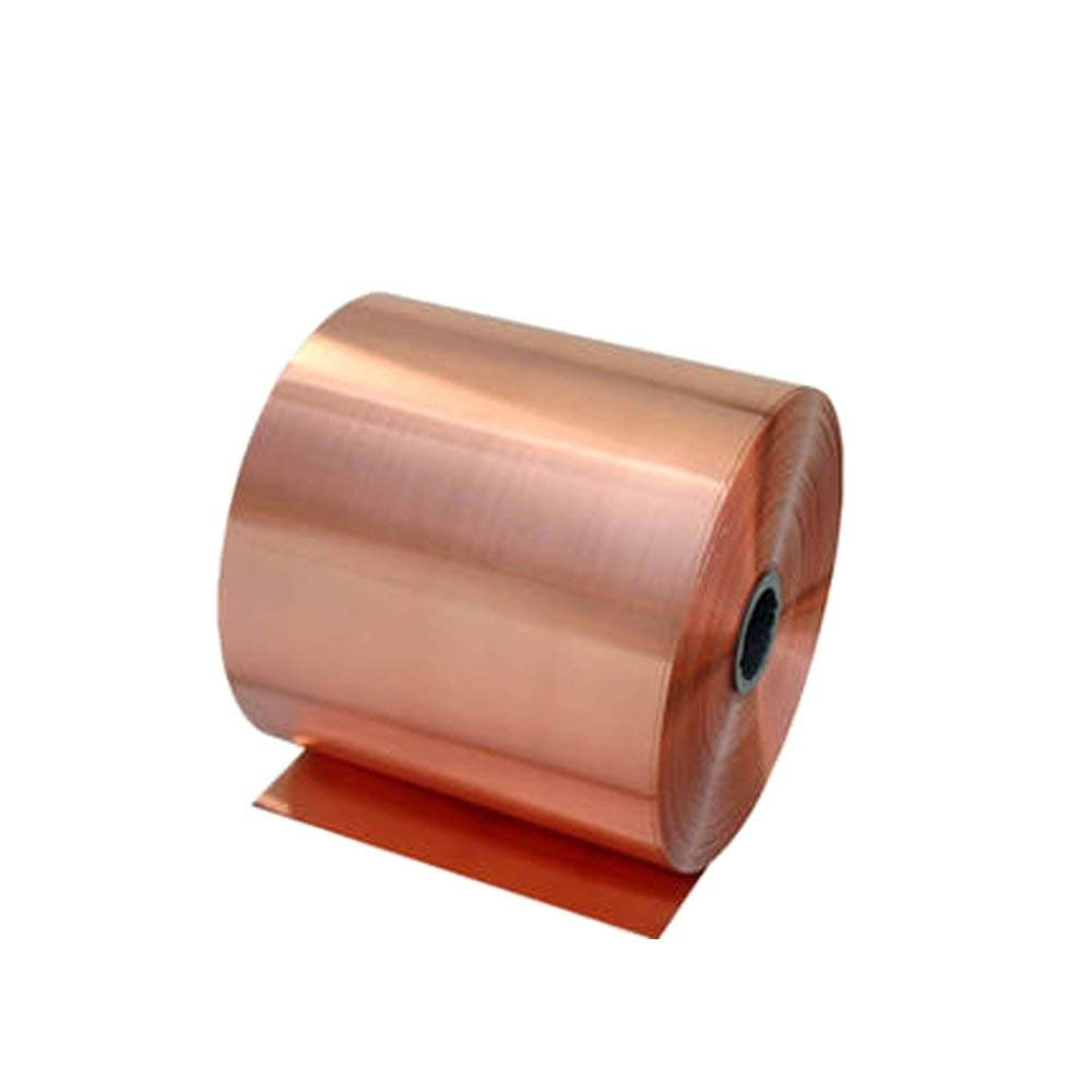RZDEAL 3.28''/1M Long Solid Copper Foil Copper Sheet Tape Conductive Roll Conductive Copper Foil Tape (0.1mm X 200mm) by RZDEAL