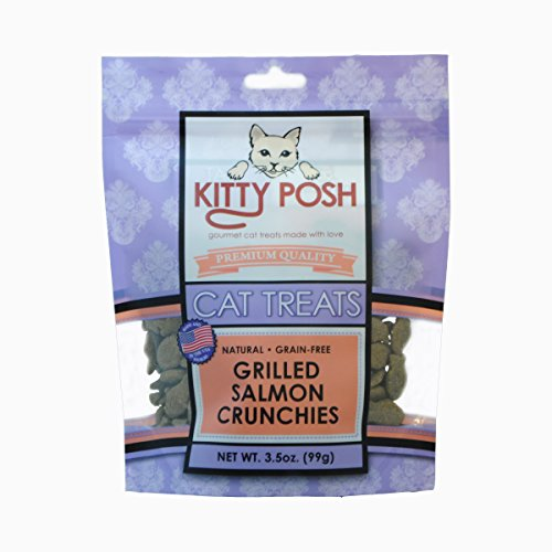 - Kitty Posh Grilled Salmon Crunchies - Grain Free/All Natural Cat Treats