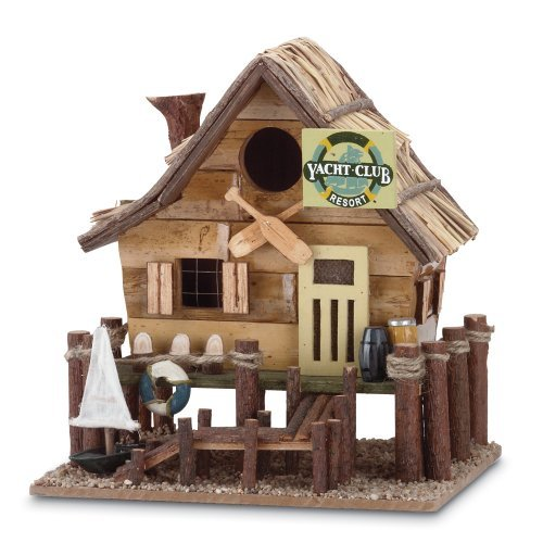 Gifts & Decor Wood Yacht Club Nautical Bird House/Feeder Outdoor, Home, Garden, Supply, Maintenance by Garden & Lawn Supply