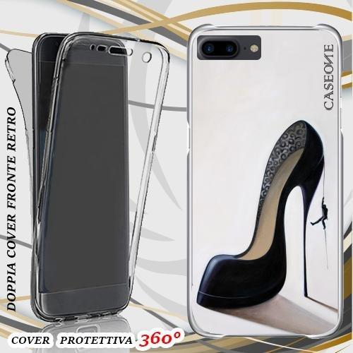 CUSTODIA COVER CASE SCARPA BLACK PER IPHONE 7 PLUS FRONT BACK
