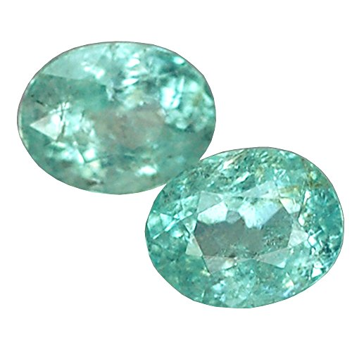 Ploythai 1.24CT Stunning AA Pair Oval Copper Bearing PARAIBA Tourmaline
