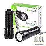 LE 2 Pack LED Flashlights Torch, 6 AAA Batteries Included, 14 LEDs Handheld Torch, Waterproof IP44 Bild 1