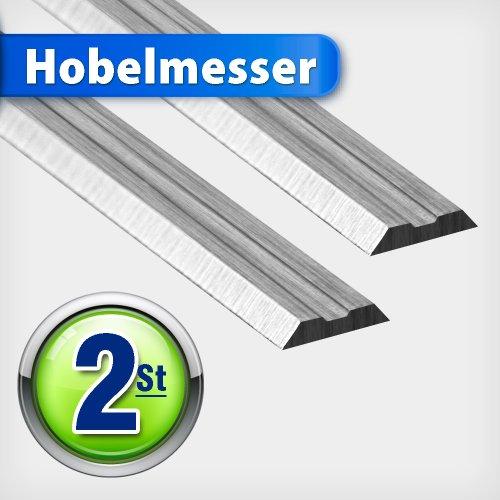 Hobelmesser 82 mm HSS Hobelmesserblätter Wendemesser Ersatzmesser für Elektrohobel Messer