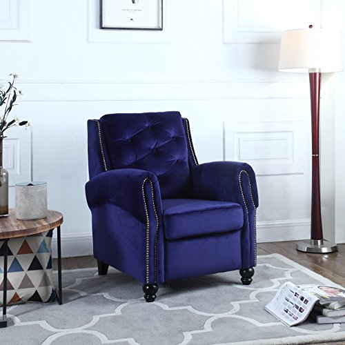 Classic Tufted Velvet Fabric Accent Chair, Living Room