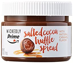 Wickedly Prime Salted Cocoa Truffle Spread with Natural Caramel Flavor, 13.2oz (Pack of 2)