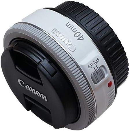 Canon Ef 40 Mm F 2 8 Stm Pancake Objektiv Weiß Kamera