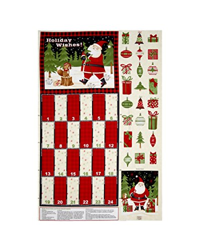 Wilmington Prints Debbie Mum Santa And Friends 30 In. Advent Calendar Panel Multi Fabric (Debbie Ribbon Pink)