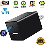 Spy Camera -USB Hidden Cam-Wifi Nanny Camera-HD 1080P Snap SmartCam-Mini Plug in Security Camera-Wall Charger Camera- Motion Detection-Remote Viewing -Upgraded Version 2018