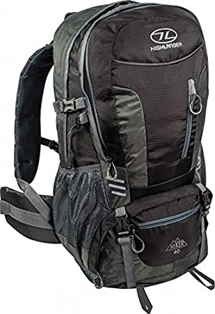 9d6e3834553a Highlander Hiker 40 Litre Rucksack in Black Grey  Amazon.co.uk  Electronics