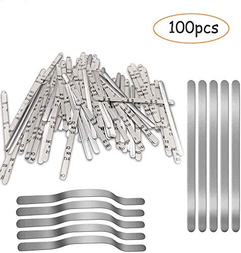 100pcs Aluminum Nose Bridge can be Directly Pasted Without Heating Materials are Easy to Form and Rebound