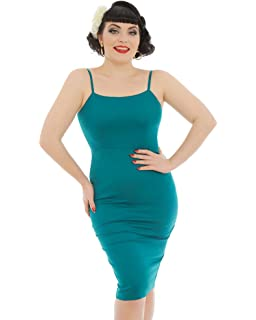 Lindy Bop Benita Teal Pencil Dress