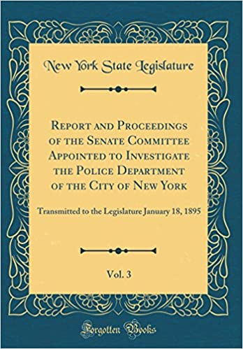 Report and Proceedings of the Senate Committee Appointed to