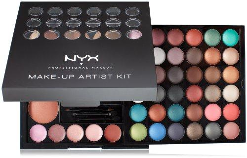NYX Makeup Artist Kit35 Fards à paupières, 3 bronzer, 5 fards à joues, 5 Lip Color, un applicateur / Miroir