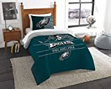 The Northwest Company NFL Philadelphia Eagles Twin Comforter and Sham, One Size, Multicolor