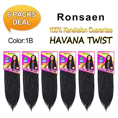 Ronsaen Afro Kinky Havana (22strands/pack) Mambo Twist Crochet Hair Senegales Twist Crochet Braiding Hair Extensions (12