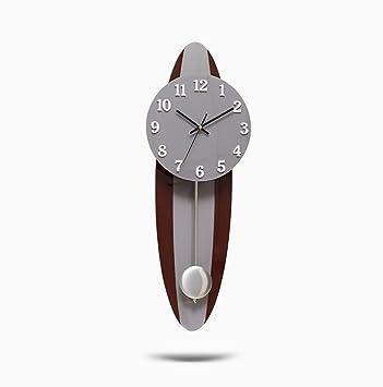 Reloj De Pared Mute Muelle Reloj De Péndulo Moderno Simple Personalidad De La Campana De La ...