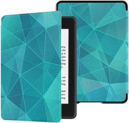 Kindle Paperwhite Funda para Hombre Turquesa Geométrica Verde Blanco Kindle Cover 2018 Paperwhite Estuche con Despertador automático/Estuches para Kindle Paperwhite 10th Generation 2018: Amazon.es: Electrónica