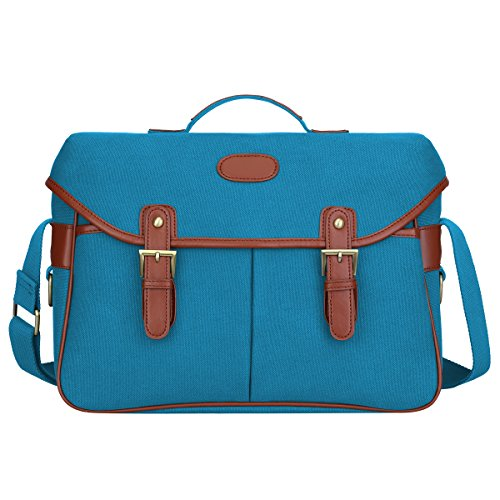 (S-ZONE Fashion Canvas DSLR SLR Vintage Camera Bag Messenger Bag (Blue) )