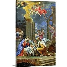 "Charles (1609-1667) Poerson Premium Thick-Wrap Canvas Wall Art Print entitled Nativity, 1667 16""x24"""