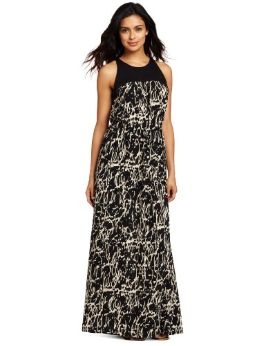 Kenneth Cole New York Women's Petite Abstract Crackle Print Maxi Dress