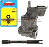 Melling M-55HV SBC Chevy HIGH Volume Oil Pump, ARP 230-7001 HP Oil Pump Stud & Drive Rod 305 307 327 350 383 400 (HV Pump & Stud)