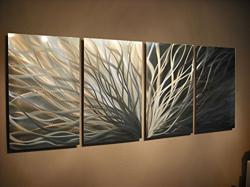 Miles Shay Metal Wall Art, Modern Home Decor, Abstract Sculpture Contemporary- Radiance Silver and Gold by Miles Shay (Image #2)