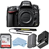 Nikon D610 24.3 MP CMOS FX-Format Digital SLR Camera Body Bundle with 32 GB Memory Card and Accessory Kit