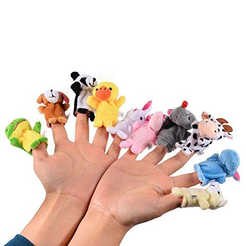 [해외]Dacawin Finger Puppets - 10pcs Plush Animal Finger Puppet Toys Sets - Flannel Cloth Puppets for Child Baby Early Education Toys Gift (Colorful A) / Dacawin Finger Puppets - 10pcs Plush Animal Finger Puppet Toys Sets - Flannel Cloth...
